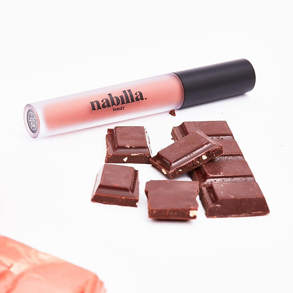1 lipstick + chocolat lait, caramel